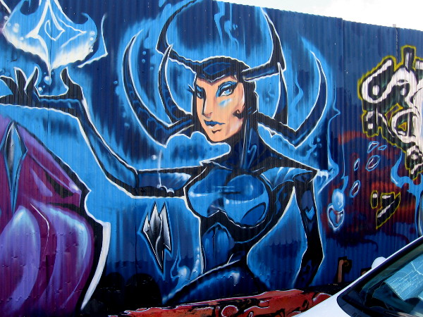 Hela street art by Fizix.