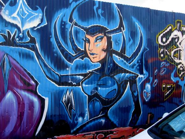 Hela street art by Fizix.