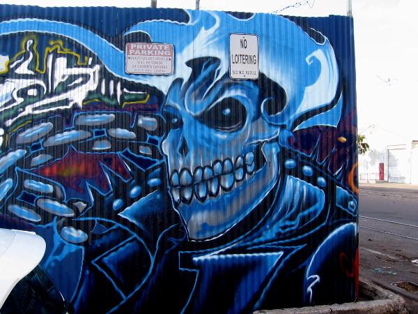 Ghost Rider street art by Fizix.