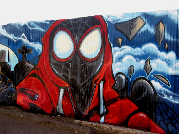 Miles Morales street art by Fizix.