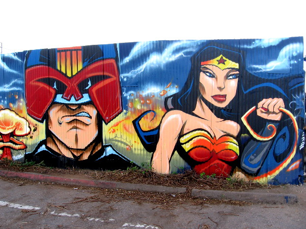 Cool characters from pop culture can be enjoyed by anyone who drives down Commercial Street in San Diego!