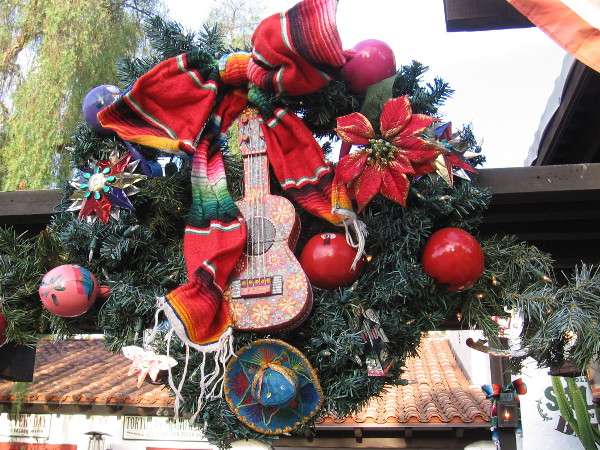 Many creative holiday wreaths have appeared throughout Old Town San Diego State Historic Park.