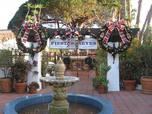 More colorful wreaths with a little bit of Mexican culture added, at the entrance to Fiesta de Reyes.