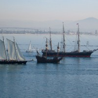 Photos of Star of India heading out to sea.