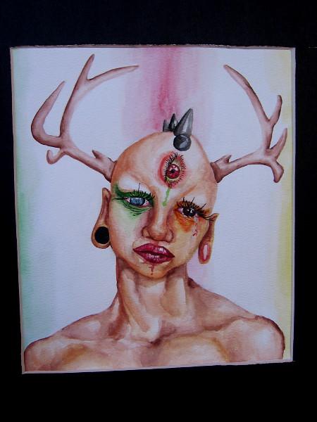 The Tears of Nature, Travis McCrae, watercolor. Grossmont High School.