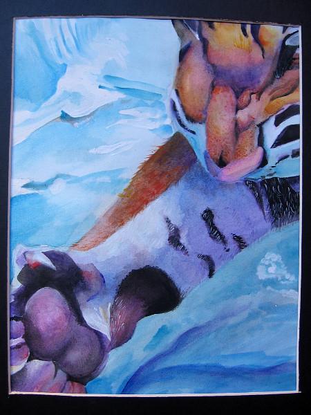 El Tigre, Ryan Zubik, watercolor. Grossmont High School.