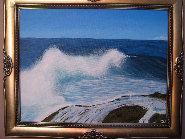 Smooth Waves, Britney Guerrero, acrylic. Steele Canyon High School.