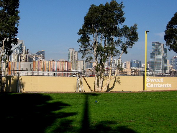 A view of Sweet Contents from Cesar Chavez Park.