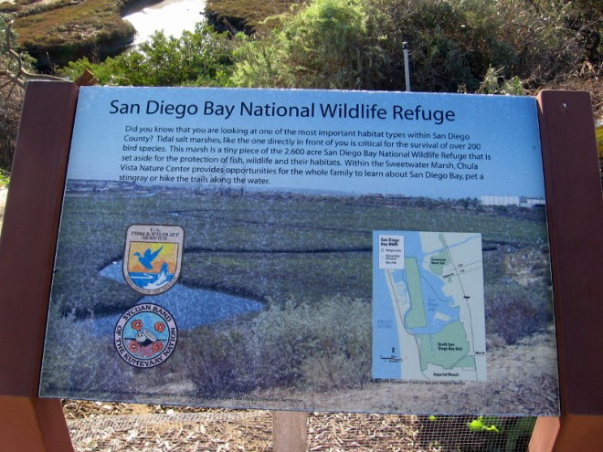 Paradise Marsh is a small part of the 2600 acre San Diego Bay National Wildlife Refuge