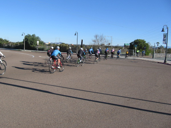 As I turned onto West 32nd Street, a big group of bicyclists rode onto the Bayshore Bikeway.