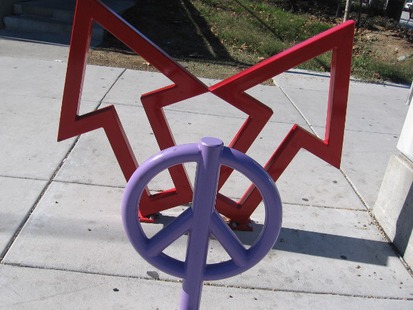 Peace, by Michelle, public art near the 24th Street trolley station in National City.