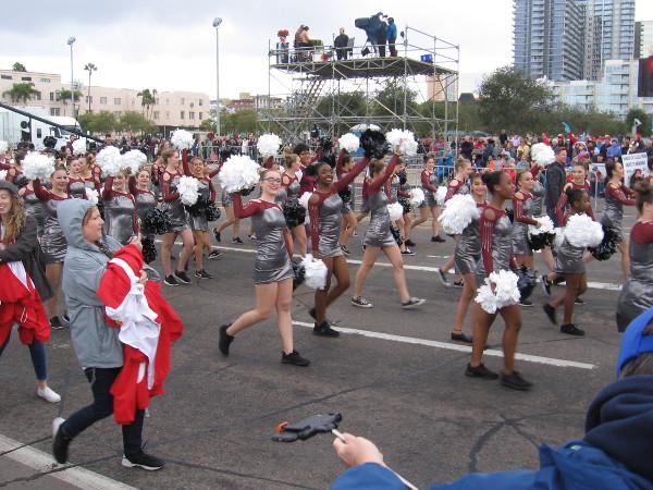 Another super fun Holiday Bowl Parade has begun!