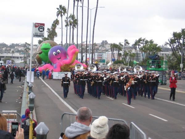 Here comes Marine Band San Diego.