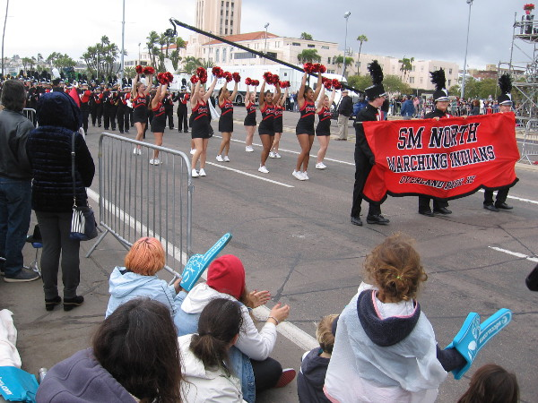 Here come the Shawnee Mission North Marching Indians from Overland Park, Kansas.