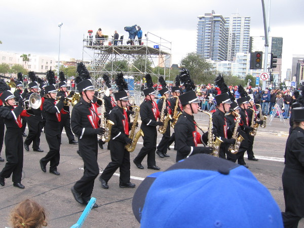 Pageantry and marching bands make any parade exciting!