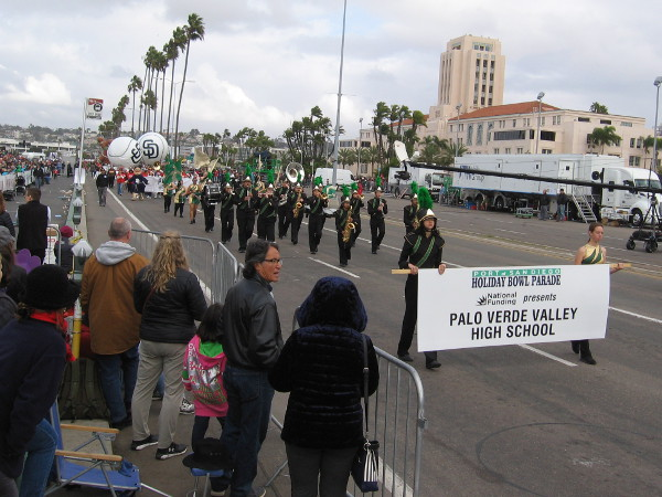 Another marching band! This one comes from Palo Verde Valley High School.