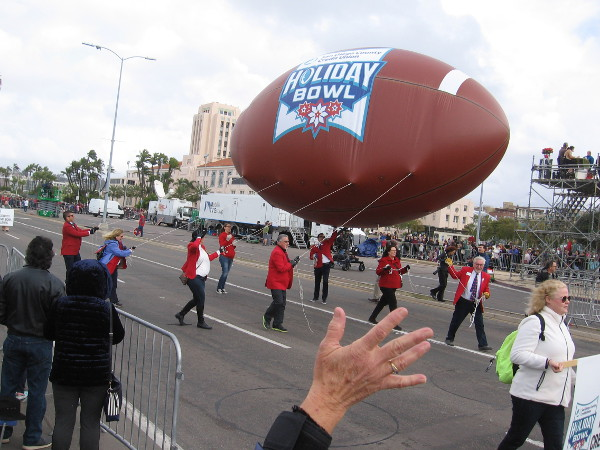 That's one mighty big football!