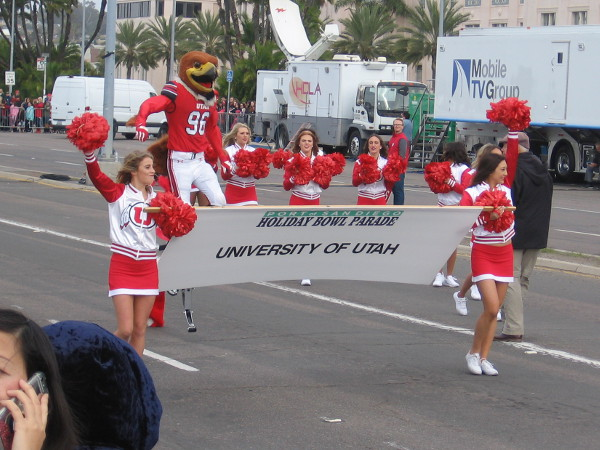 The Utes also had a big contingent in the Holiday Bowl Parade.