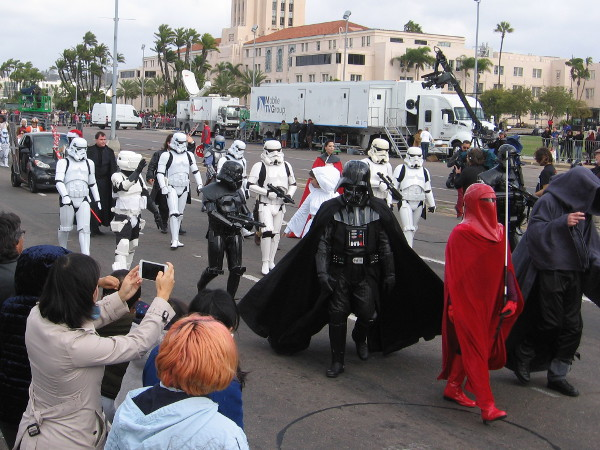 The San Diego Star Wars Society is always a sure hit with young and old alike in any parade!