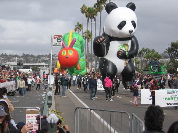 Even more fun balloons! I see a San Diego Zoo Panda!