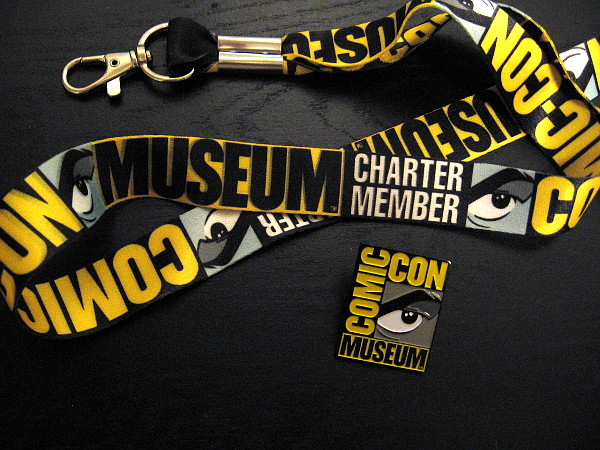 Woohoo! Look what arrived in the mail! A Comic-Con Museum Charter Member lanyard and pin!