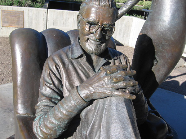 The friendly, wise face of Theodor Seuss Geisel.