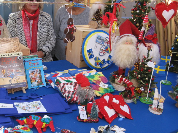 The House of Sweden always has lots of Christmas crafts and fun holiday stuff on display.
