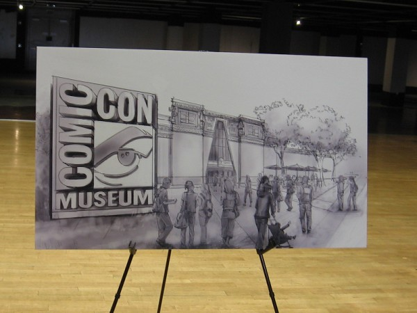 An artist's rendering of what the entrance to the Comic-Con Museum will appear like when it opens in San Diego!