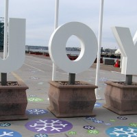 JOY appears on the Broadway Pier!