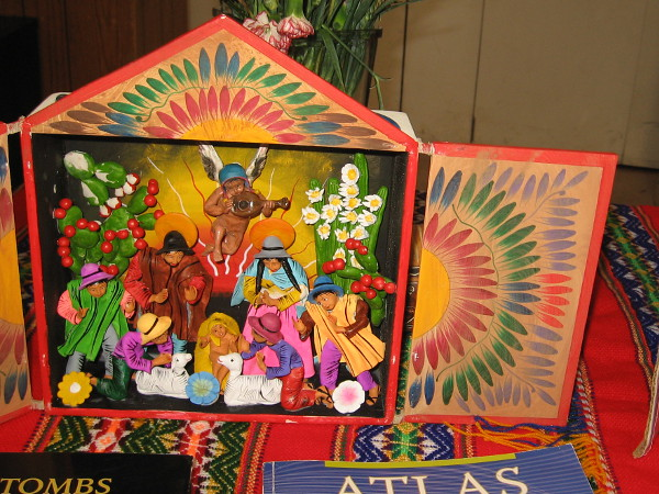 The nearby International Cottages were celebrating Christmas Around the World. This beautiful creche in the Hall of Nations is from Peru.
