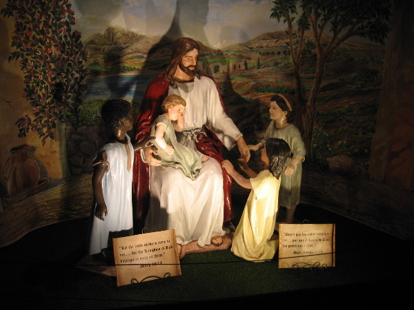 Jesus with the little children. For the Kingdom of God belongs to such as these.
