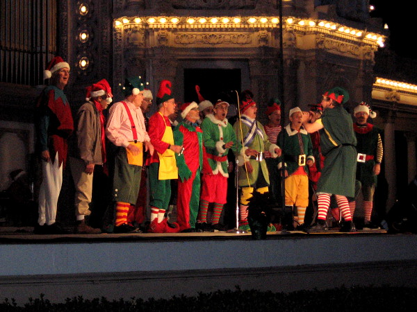 The Sun Harbor Chorus Elves had many in the audience singing, clapping and ringing bells.