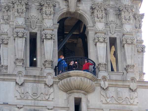 Visitors to Balboa Park see a magical landscape from a window-like balcony high in the California Tower.