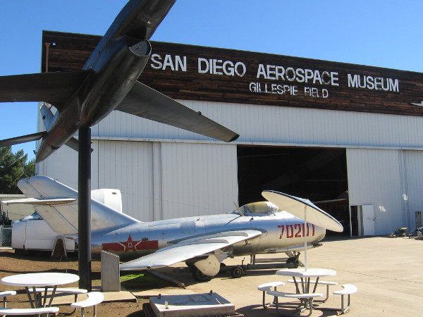 Lots of cool sights await visitors to the free San Diego Air and Space Museum's Gillespie Field Annex!