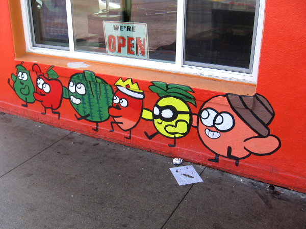 Fun artwork on the wall of Fruteria Disfrutalas at University Avenue and Cherokee Street.