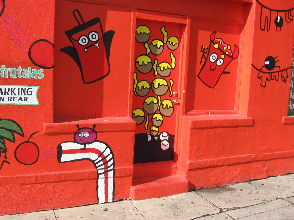 All these happy images were created by Isaias Crow and his 14 year old apprentice Andrew, who designed the fun artwork.