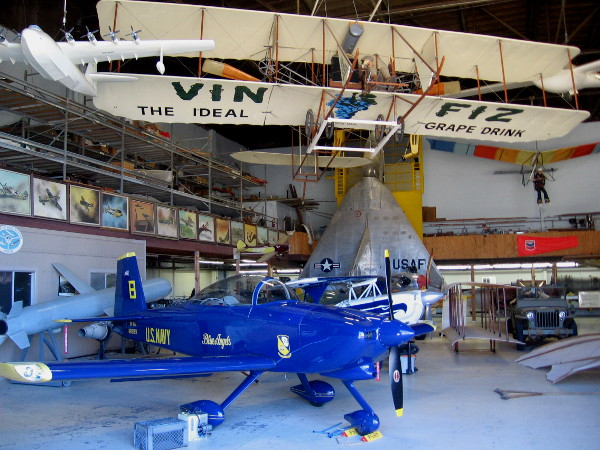 Inside the hangar there's a ton of cool stuff, including many old exhibits from the main San Diego Air and Space Museum in Balboa Park.