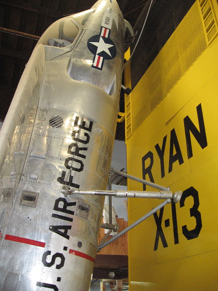 This particular Ryan X-13 was the result of a contract with the U.S. Air Force.