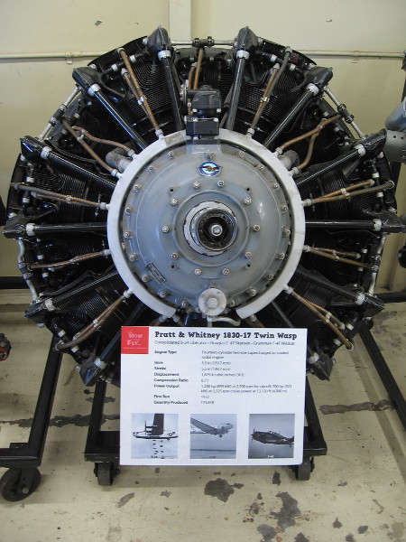 Pratt and Whitney 1830-17 Twin Wasp, used in several World War II aircraft.