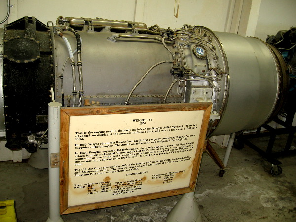 Wright J65 turbojet engine, 1954. This engine powered many military aircraft in the mid 20th century, including the very successful A-4 Skyhawk.