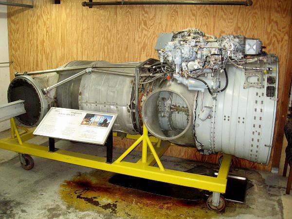 Rolls Royce Pegasus F402-RR-401 vectoring turbofan that powers the AV-8A Harrier short take-off and vertical landing aircraft.