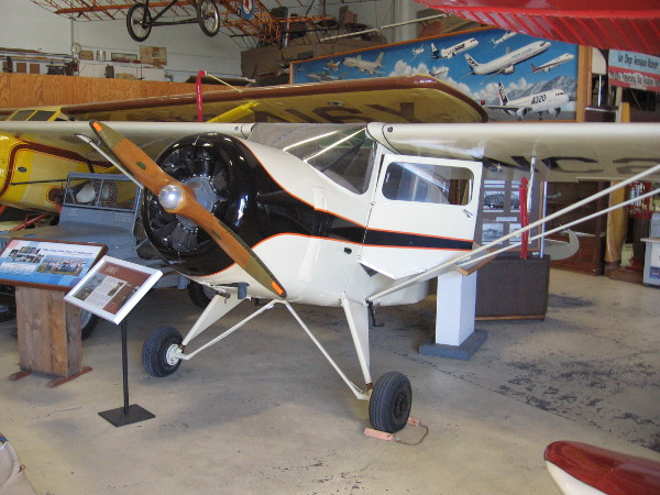 Rearwin Cloudster 8135, once displayed on the museum floor in Balboa Park.