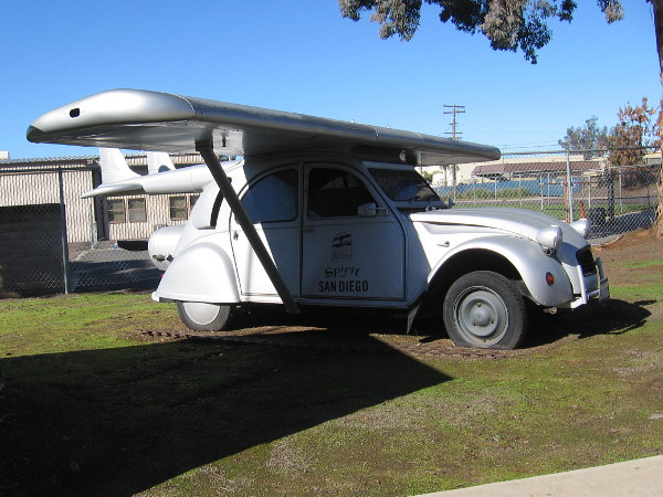Someone created this silly flying car named the Spirit of San Diego!