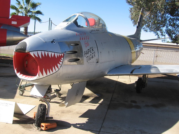 North American F-86F Sabre from the Korean War period.