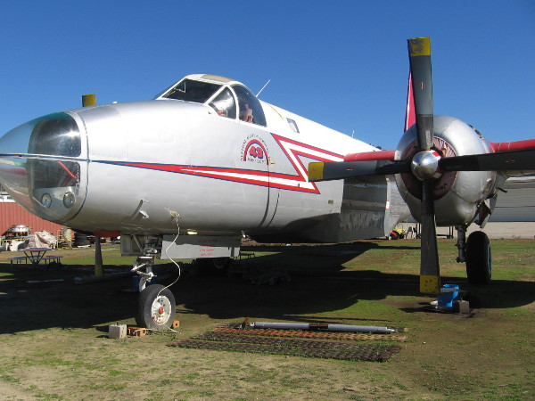 An old Neptune Aviation Services P2V-7 aerial firefighting plane--Tanker 43.