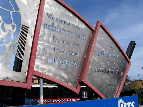We cannot seek achievement for ourselves and forget about progress and prosperity for our community. --Cesar E. Chavez