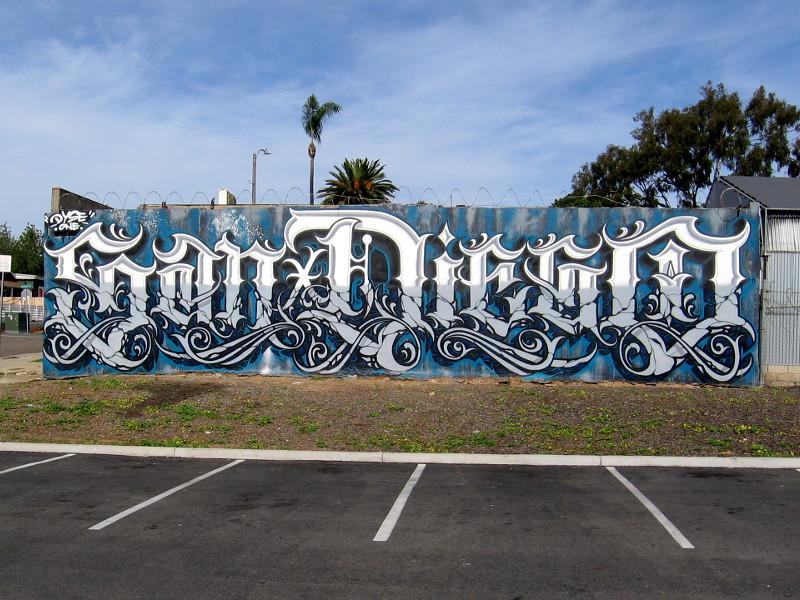One Very Cool San Diego Graffiti Mural Cool San Diego Sights