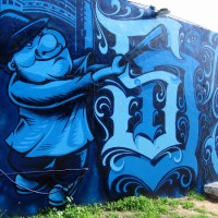 "One very cool ""San Diego"" graffiti mural!"