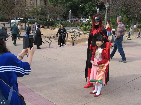 Batwoman has a young fan. Yes, another photo.