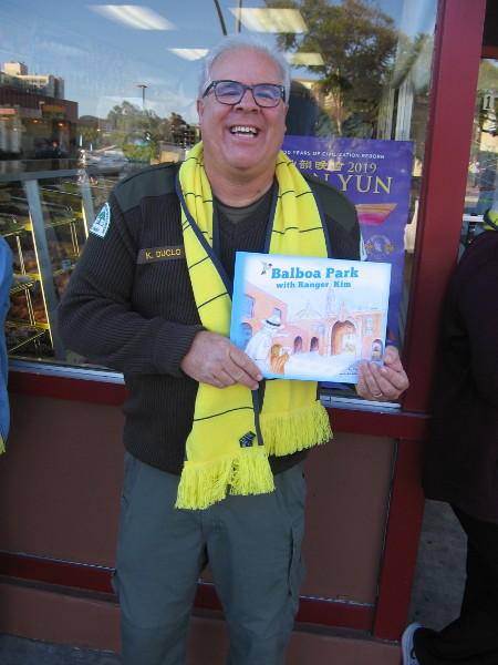 Look who I spotted! It's Balboa Park's Ranger Kim, with his cool new children's book!
